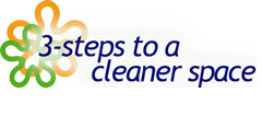 3 steps to a cleaner space